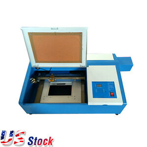 Us Stock Desktop 50w Mini Co2 Laser Engraving Cutting Machine Up And Down Table