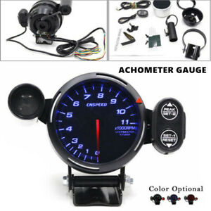 12v Tachometer Gauge Kit Led 3 5 Auto Meter With Shift Light And Stepping Motor