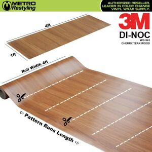 3m Di noc Cherry Teak Wood Grain Vinyl Sheet Wrap Film Sticker Roll Adhesive