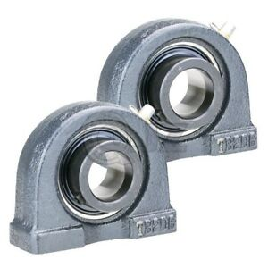 2x 1 5 16 In Pillow Block Cast Iron Hctb207 21 Mounted Bearing Hc207 21 tb207