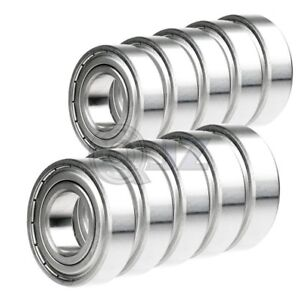 10x 609 zz 24mm X 9mm X 7mm Shield Sealed Deep Groove Ball Bearing Abec 5 New