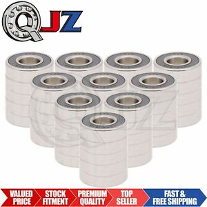 50x Ss6203 2rs Ball Bearing 17mm X 40mm X 12mm Rubber Sealed Stainless Steel Qjz