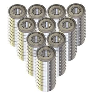 100x Ss6203 zz Ball Bearing 17mm X 40mm X 12mm Metal Sealed Stainless Steel New