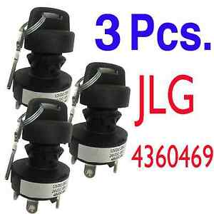 3 X Jlg Part 4360469 New Jlg Ignition Key Switch Quantity Of 3