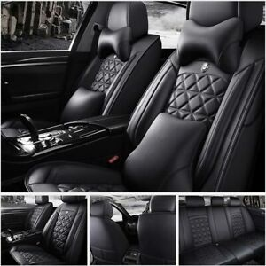 Us Top Leather 5 sits Car Seat Cover Cover Front rear Cushion Universal Interior