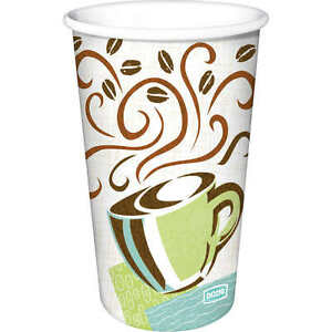 Dixie 12 Oz Perfectouch Insulated Paper Hot Cup Coffee 160 Cups Lids