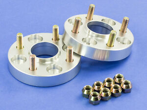 35mm Silver Hubcentric Wheel Spacers Plymouth 4x100 57 1 12x1 5