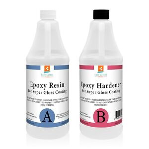 Epoxy Resin 64 Oz Kit Crystal Clear For Super Gloss Coating And Table Tops