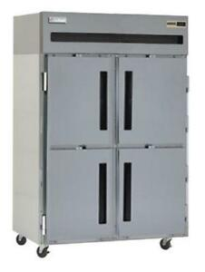 Delfield Gbr2p sh 43 5 Cu ft Reach in Cooler Refrigerator With 4 Solid Doors