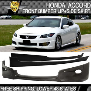 Fits 08 10 Honda Accord 2 Dr Pu Front Lip Side Skirts Hfp Style Poly Urethane