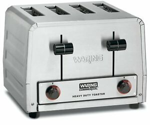 Waring Commercial Wct800rc Heavy Duty Stainless Steel Standard Toaster With 4