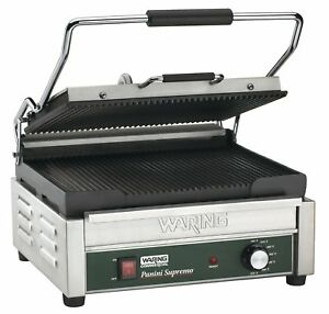 Waring Commercial Wpg250 120 volt Italian style Panini Grill Large