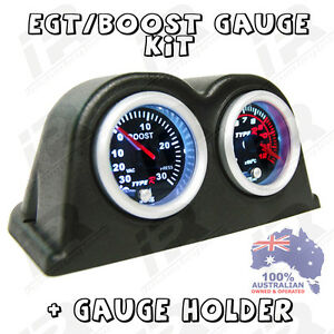 Pyro Egt Exhaust Gas Temperature Gauge Turbo Boost Psi Kit Ford Ranger Bt50