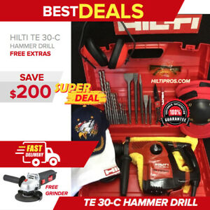 Hilti Te 30 c Hammer Great Condition Free Laser Meter Extras Fast Shipping
