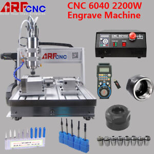 4axis Cnc Router 6040 2 2kw Spindle Engraving Milling Carving Machine