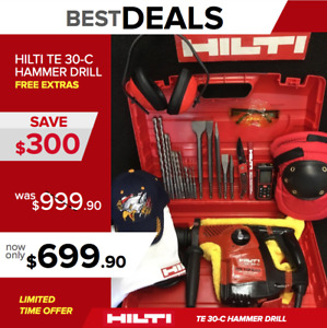 Hilti Te 30 c Hammer Great Condition Free Laser Meter Extras Quick Ship