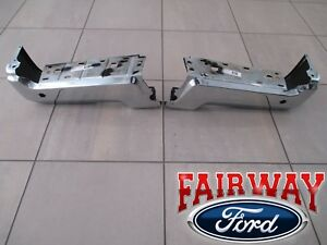 17 Thru 19 Ford Super Duty Oem Ford Rear Chrome Step Bumpers With Backup Sensors