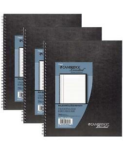Mead Cambridge Limited Business Notebooks Legal Ruled 1 Subject 3 pack