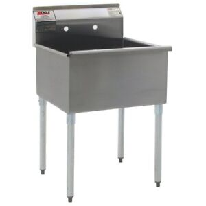 Eagle Group Stainless Steel Utility Sink 24in X 24in 1 Compartment