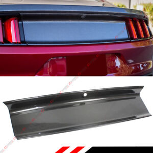 For 2015 2018 Ford Mustang Gt Real Carbon Fiber Trunk Panel Decklid Trim Cover
