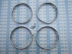 1958 1964 Chevrolet Gmc Headlight Retaining Rings Stainless Steel Set Of 4