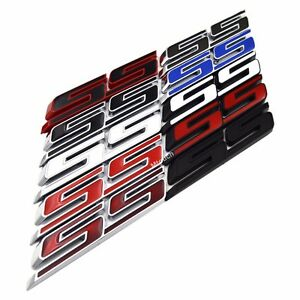 Ss Letter Grille Fender Lid Trunk Emblem Badge For Chevy Camaro Impala 2010 2015