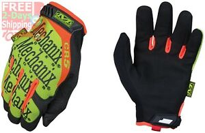 Mechanix Wear Hi viz Original Cr5 Gloves x large Black fluorescent Yellow