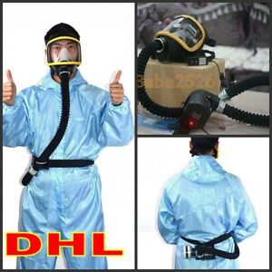 Pro Electric Constant Flow Supplied Air Fed Full Face Gas Mask Respirator System