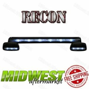 Recon 3pc Clear Cab Roof Lights White Leds Fits 2007 2013 Silverado Sierra 1500