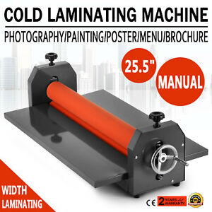 25 5 Cold Laminator Manual Roll Laminator Vinyl Photo Film Laminating Machine2
