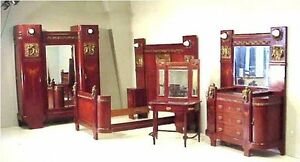 1920s Italian Mahogany Bedroom Suite With Bronze Cherubs And Roses Reduced