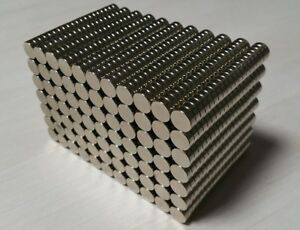 500 Neodymium N52 Cylinder Disc Magnets Super Strong Rare Earth 3 8 1 8