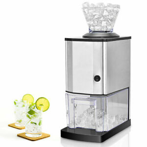 Electric Stainless Steel Ice Crusher Shaver Maker Machine Professional Tabletop