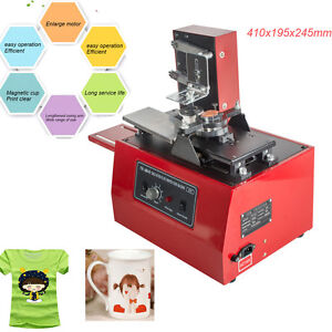 Electric Pad Printer Printing Machine Diy T shirt Cup Inkprint Pvc Mug Pen Logo
