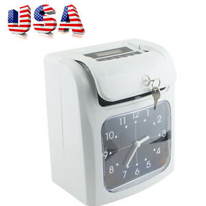 usa electronic Employee Analogue Time Recorder Time Clock W card Monthly weekly