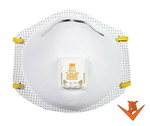 3m 8511 N95 Dust Particulate Respiratory Protection Half Face Mask 80 Total
