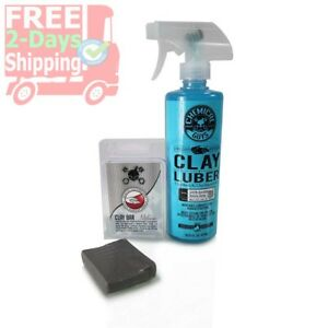 Chemical Guys Medium Duty Clay Bar And Luber Synthetic Lubricant Kit 2 Items