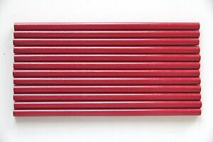 24 Pcs Red Round Wood Stationary Pencils Hb 2 Nontoxic No Lead Unsharpened