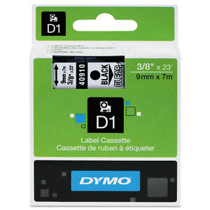 Dymo Dym40910 Labelmanager 160 D1 Label Tape 3 8 X 23 Ft Black On Clear