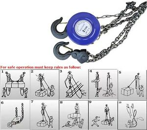 New Lever Block Hoist Chain 2ton Puller Lifter Hook Come Alongs Heavy Duty Tools