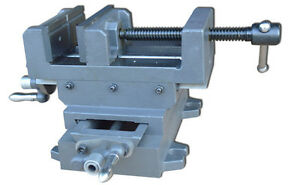 Cross Slide Vise 5 Clamp Milling Heacy Duty Metalworking Tooling Drill Press