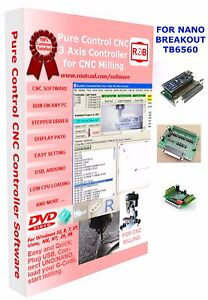 Arduino Nano Tb6560 Breakout Cnc Pure Control Easy To Use And Friendly Software