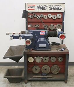 Used Ammco 4000b Disc And Drum Brake Lathe W Stand Loaded With Adapters