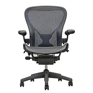 Herman Miller Aeron Mesh Office Chair Medium Size B Fully Adjustable Posture Fit