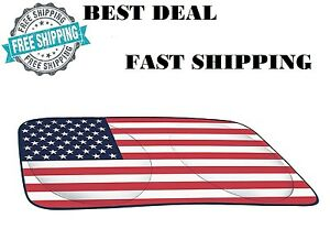Sun Shade Protector American Flag Window Auto Car Truck Front Windshield Visor