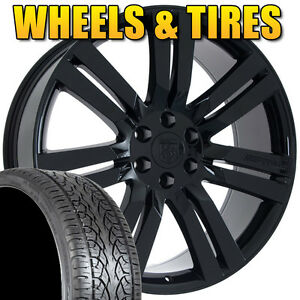 Set Of 24 Black Chevrolet Chevy Avalanche Suburban Tahoe Rims Wheels And Tires
