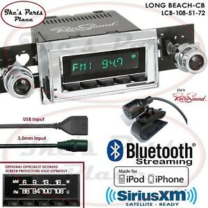 Retrosound Long Beach Cb Radio Bluetooth Ipod Usb 3 5mm Aux In 108 51 Corvette