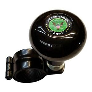 Black Steering Wheel Suicide Spinner Power Handle Knob Car Truck Us Army Eagle