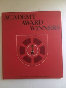 Ampas Academy Award Winners Red 3 ring Thin Binder File Folder 11 5 X 10 25