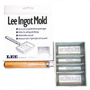 Aluminum Ingot Bar Mold Lead Melting Alloying Casting Handle Tool .5lb 1lb Size